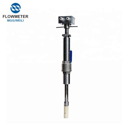 AC powered low cost insertion electro magnetic flowmeter for large pipe waste water