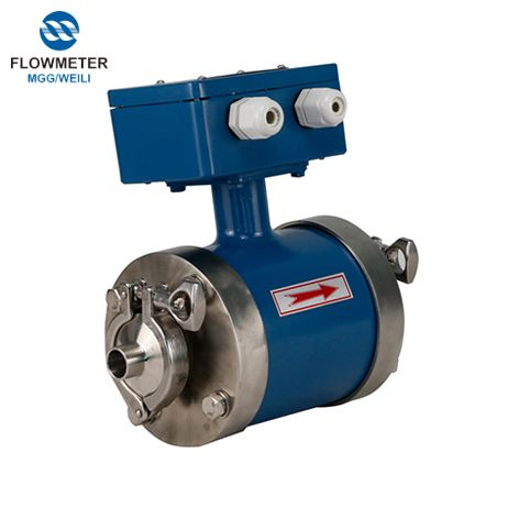 Water Milk Analog Magnetic Flow Meter Price Electromagnetic Flowmeter